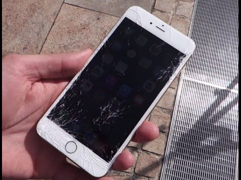Using cracked iphone